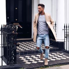 Tag someone you think would look good in this outfit 😍👌🏽 - 📸 Gq Style, Jean Outfits, Casual Outfits, Fashion Outfits, Ootd Fashion, Daniel Magic Fox, Daniel Fox, Style Brut, Style Masculin