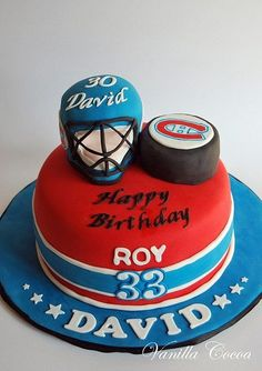 hockey cake by Cocoa Claudia, via Flickr#Hockey #cake #ahockeymomreviews