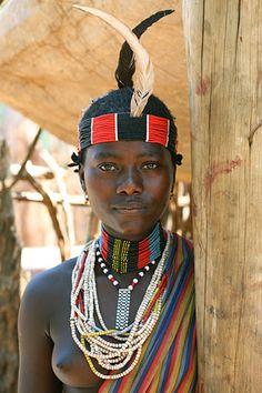Africa | Hamer girl from a village outside Turmi, Ethiopia | © Lars-Gunnar Svärd