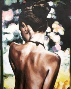 """Bareback Multicolor,"" figurative painting by artist Thomas Saliot (France) available at Saatchi Art #SaatchiArt"