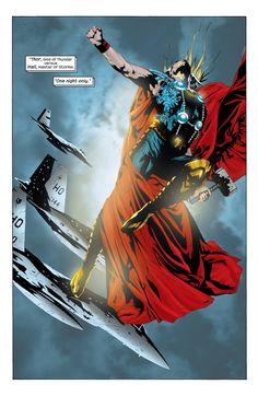 Captain America #11 interior art - Thor by Jae Lee *