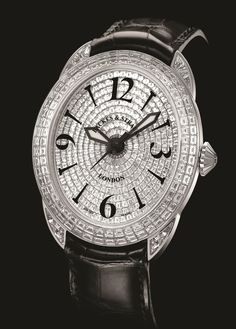 The Prince Regent comes in two sizes, the 4047 has 345 diamonds weighing 15.77 carats, 344   individually cut and polished baguette diamonds. The Case is iset with 116 baguette cut   diamonds weighing 6.62cts and the Dial with 228 baguette cut diamonds weighing 9.06 carats   and The Jewel in the Crown is 0.09 carats. The 4452 has 505 diamonds weighing 20.06 carats,   504 individually cut and polished baguette diamonds. Discover more on www.backesandstrauss.com