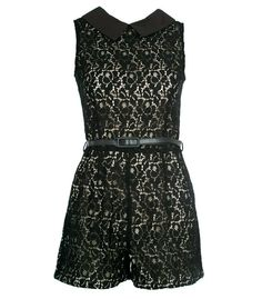 black romper, don't know why but i actually really like this Cool Outfits, Summer Outfits, Fashion Outfits, Lace Playsuit, Black Romper, Designer Wear, Summer Clothes, Grunge, Rompers