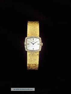 Rare Vintage Omega Deville Solid 18k Gold Diamonds Womens Luxury Wrist Watch  photo