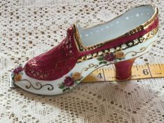 #Antique kpm #porcelain #victorian shoe,  View more on the LINK: http://www.zeppy.io/product/gb/2/282049268211/
