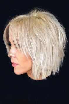 Shaggy Bob ❤️ Check out these easy hairstyles for fine hair. See how yo. - Shaggy Bob ❤️ Check out these easy hairstyles for fine hair. See how you can sport bob wit - Long Face Hairstyles, Haircuts For Fine Hair, Easy Hairstyles, Stylish Hairstyles, Hairstyle Short, Haircut Short, Hairstyles 2016, School Hairstyles, Bobs For Fine Hair