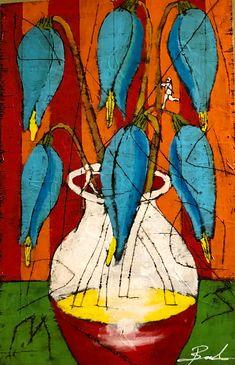 Untitled Floral #44 by Michael Banks Michael Banks, Atlanta Art, Outsider Art, Black Art, Contemporary Artists, Art Museum, Framed Art, Folk Art, Art Gallery