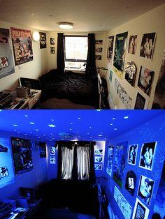 Stoner Bedroom Ideas Grasscity Forums Artificial Lighting: How to Know What Works Where Bedroom Lighting Ideas 9 Picks Bob Vila Bedroom . Teenage Girl Bedrooms, Girls Bedroom, Bedroom Ideas, Bedroom Stuff, Bedroom Black, Dream Bedroom, Gothic Bedroom, Stoner Bedroom, Black Light Room