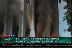 Se incendia depósito de de armas del destacamento de Azua