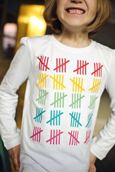 day of school t-shirt with tally marks.