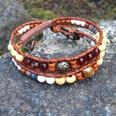Beach inspired double wrap now listed!  Wood & Jasper >> wanderlustwrists.etsy.com  --> Link in bio  #bracelet #bracelets #handmade #handmadebracelet #handmadejewelry #local #etsy #wanderlust #travel #explore #victoria #leather  #travelbracelet #crystalproperties #healing #bohemian #jewelry #wrapbracelet #chanluu #etsysuccess  #jasper #pretty #local # #gemstone #westcoast #victoria #westcoastjewelry #shopetsy #etsysuccess #anklet #summer #bodyjewelry