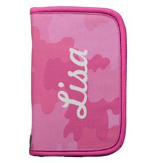 Personalized Bright Pink Camouflage Folio Planner http://www.zazzle.com/personalized_bright_pink_camouflage_folio_planner-201077480746197638?rf=238271513374472230  #school supplies