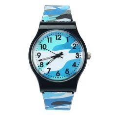 Children's Watches Camouflage Strap Quartz