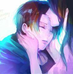 Shingeki no Kyojin┋Атака Титанов┋Attack on Titan (Levi: My mom.I love you mom. Ereri, Levihan, Attack On Titan Ships, Attack On Titan Levi, Levi Ackerman, Kuroko, Chica Anime Manga, Anime Art, Misaki
