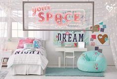 Introducing Your Space by Justice. All the special extras she needs to decorate her dream room.