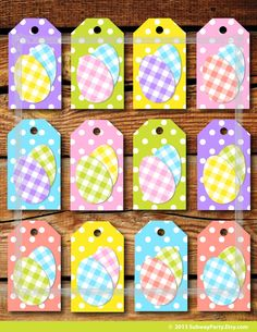 Printable easter gift tags with cute chevron easter eggs in easter instant download printable easter gift tags diy in polka dot pattern with fun gingham easter eggs negle Choice Image