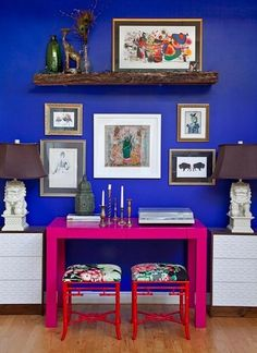 The Power of a Painting Project: Bold Blue Walls