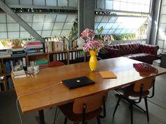 Inside the Cube Home Office — Tech Tour Meeting Table, Interior Design Studio, Studio Design, Architecture Office, Apartment Therapy, Home Office, Cube, Sweet Home, Indoor