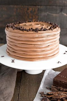 This classic chocolate cake pairs moist chocolate cake layers with a rich and silky chocolate buttercream. It's the only chocolate cake recipe you will ever need! | livforcake.com