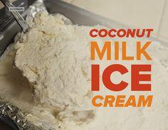 Paleo Coconut Milk Ice Cream | Paleo Hacks - only 4 ingredients and NO ice cream maker required!!!