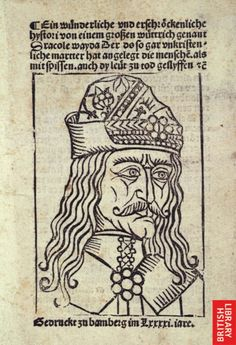 Vlad III. of Wallachia. Known as Vlad Tepes - The Impaler or Dracula. Portrait.