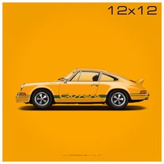 1972 Porsche 911 RS illustration poster print by GP101 on Etsy