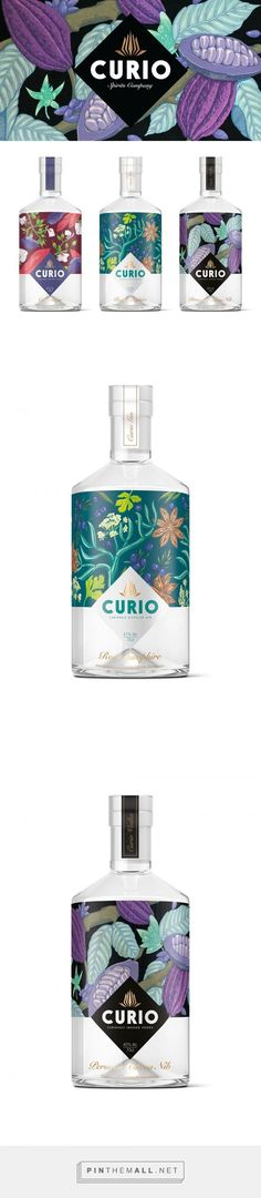 Curio Spirits by Kingdom & Sparrow. Pin curated by packaging and label design Packaging Box, Fruit Packaging, Beverage Packaging, Coffee Packaging, Pretty Packaging, Cosmetic Packaging, Brand Packaging, Design Packaging, Chocolate Packaging
