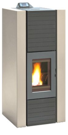 STUFA A PELLET LAMINOX IDRO ROSA 7 AIR 7 KW ANTRACITE. Ideale per ...