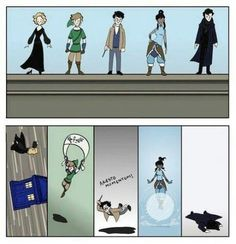 How different people fall. Sherlock... :(