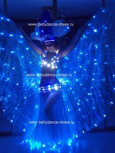 "US $ 400 / Set LED Isis wings, Model ""Pas de Bleu"", View belly dance LED isis wings, Led Dress Product Details from Bellydance-dress on Alibaba.com"