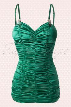 green vintage swimsuit 2V