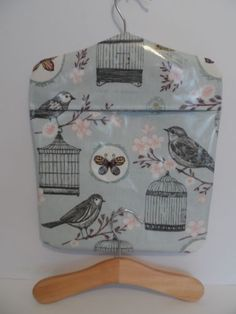 PEG-BAG-OILCLOTH-MELODIE-DUCK-EGG-PATTERN