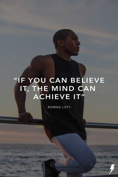 """If you believe it, the mind can achieve it. Ronnie Lott, Athlete, Believe, Mindfulness, Fitness, T Shirt, Inspiration, Women, Fashion"