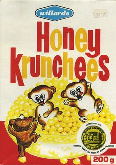Honey Krunchees - Zimbabwe ©1997 Cairns Foods Ltd. My favorite cereal as a child growing up in ZImbabwe