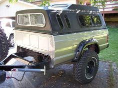 Custom XJ Trailer Concept - Page 4 - Jeep Cherokee Forum Pickup Bed Camper, Truck Cap Camper, Truck Bed Trailer, Camping Trailer Diy, Bug Out Trailer, Off Road Camper Trailer, Truck Camping, Camper Trailers, Campers