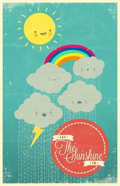 'Let the sunshine in' is one of my first Adobe Ideas App illustratiions.  more at: http://facebook.com/mr.mooree