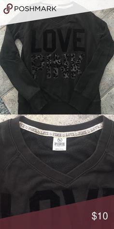 PINK v neck sweatshirt Comfy PINK v neck sweatshirt PINK Victoria's Secret Sweaters V-Necks