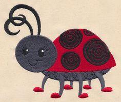 Doodle Ladybug design (K9796) from www.Emblibrary.com