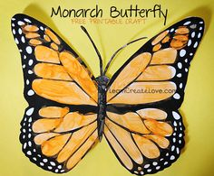 Printable Monarch Butterfly Craft: perfect for when our butterflies emerge from the chrysalis