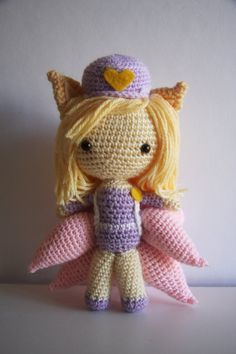 League of Legends Popstar Ahri Amigurumi by LittleForestWorkshop, $70.00