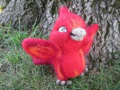 Baby Phoenix, needle felted collectable, felt sculpture, needle felting, $80 by EnchantedLandofFelt on Etsy www.EnchantedLandofFelt.com www.enchantedlandoffelt.etsy.com #needlefeltedanimal, #feltedanimal, #feltedminiature, #animalminiature, #miniatureanimal, #needlefelting, #feltanimal, #feltedanimals, #fiberart, #feltdecor, #softsculpture