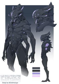 Ophonite warriors but make bigger/buffer Monster Concept Art, Alien Concept Art, Creature Concept Art, Fantasy Monster, Monster Art, Creature Design, Humanoid Creatures, Alien Creatures, Fantasy Creatures