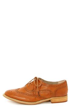 Wanted Babe Tan Lace-Up Brogue Oxfords. GET THESE WITH HONEY FOR $40 Price without Honey: $45  #HoneyFinds www.joinhoney.com