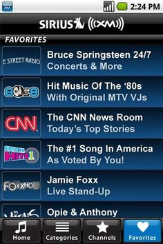 Favorite Android Apps - Sirius XM