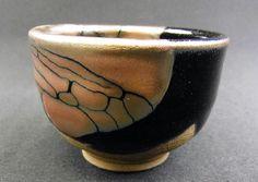 Guinomi sake cup using tama-hagane glaze technique (one used to make iron traditional Japanese swords!) by Toshiyuki Suzuki #Japan