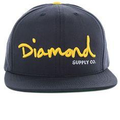 Diamond Supply Brilliant Snapback Hats Cyan 1651