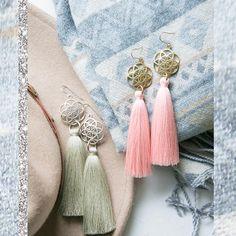 SEED of LIFE brass and Tassel Earrings / Yogini earrings /