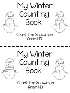 Winter snowmen counting booklet 1-10 $