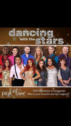 Dancing with the stars wear Park Lane!!