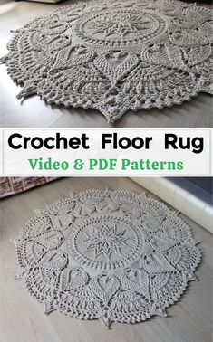 Crochet Doily Rug, Crochet Rug Patterns, Crochet Carpet, Crochet Crafts, Yarn Crafts, Crochet Home Decor, Crochet Box, Knit Crochet, Yarn Projects